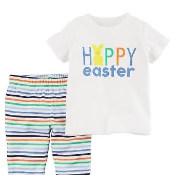 f8d10a1b4 Carter's Matching Sets | Carters Boys 2pc Easter Outfit With Bunny ...